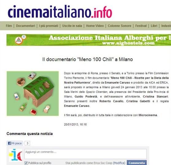 Cinema Italiano 20-01-13